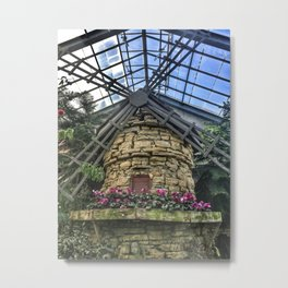 Windmill at Conservatory Metal Print