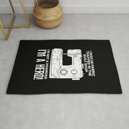 Sewing Sewing Machine Gift Rug