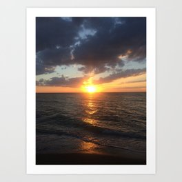 Sunset Yolo Beach Art Print