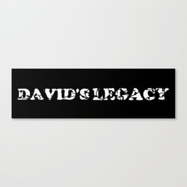 David's Legacy Scattered Leaves (Inverted) Canvas Print