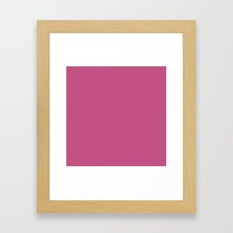 Simple Solid Color Bashful Pink All Over Print Framed Art Print