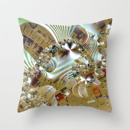Relaxing from the chaos of strict structures Throw Pillow