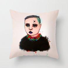 Punk Hawaii Throw Pillow