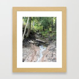 A casual stream Framed Art Print