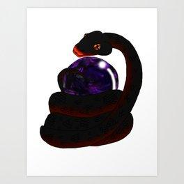 Snake Piece #27 - Black Materia Art Print