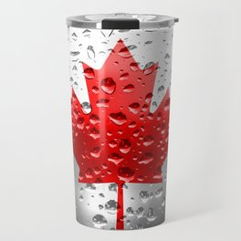 Flag of Canada - Raindrops Travel Mug