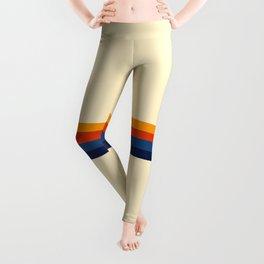 Haruhisa - Classic Minimal Retro Stripes Leggings