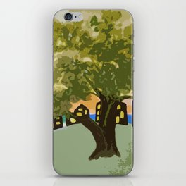 The Tree on the Hill iPhone Skin