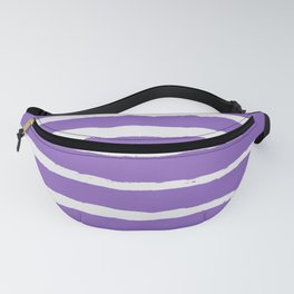 Irregular Hand Painted Stripes Purple Fanny Pack