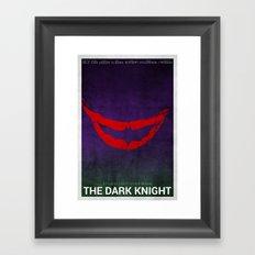 The Dark Knight (Alternative Poster) Framed Art Print