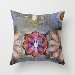 Stickball Au Naturel Flower  ID:16165-150329-07211 Throw Pillow