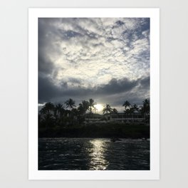 MORNING ON THE WATER Art Print