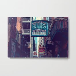 Historic Printer's Alley Nashville Tennessee Metal Print