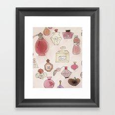 Pefume Collection Framed Art Print