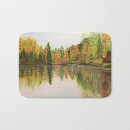 Fall at lake Bath Mat