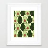 avocado Framed Art Prints featuring Avocado by SarahBoltonIllustration