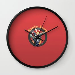 Warrior Bunny Nukem Wall Clock
