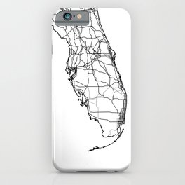 Florida White Map iPhone Case