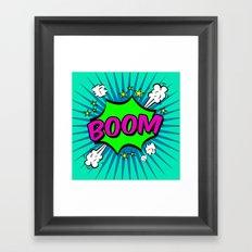 Boom Blue Boom Framed Art Print