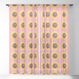 Sunflower Burst Sheer Curtain