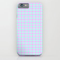 Gingham purple and teal Slim Case iPhone 6s