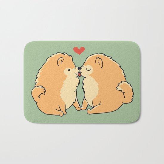 Pomeranian Kisses Bath Mat