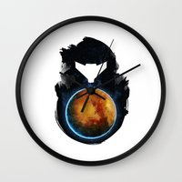 metroid Wall Clocks featuring Metroid Prime by Ian Wilding