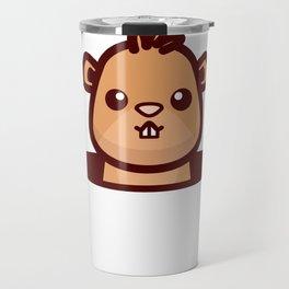 Happy Groundhog Day design Awesome Cute Groundhog design Travel Mug