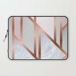 White Pastel Art Deco Laptop Sleeve