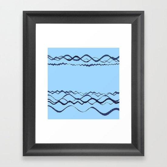 1380249359 in blue Framed Art Print