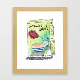 Super Cereal Morality Bites - Contains Free Toy! Framed Art Print