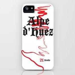 Famous Climbs: Alpe d'Huez 2, Old World iPhone Case