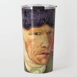 Vincent van Gogh Self-portrait with Bandaged Ear and Pipe Travel Mug