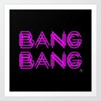 minaj Art Prints featuring BANG BANG by Joe Alexander
