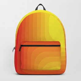 Gradient Sun Abstract Vintage Pattern Geometric Backpack