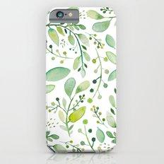 watercolor foliage Slim Case iPhone 6s