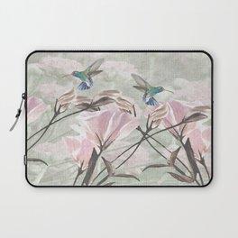 Silver Mountain Humming Birds / Pink Roses Laptop Sleeve