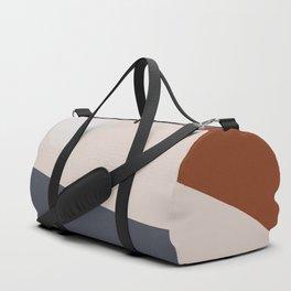 Navy & Rust VIII Abstract Duffle Bag