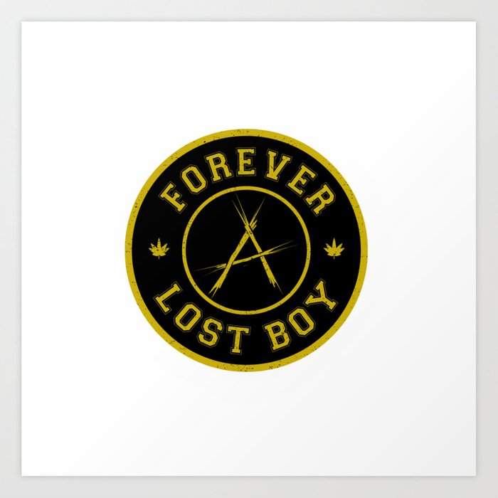 Lost Boy Badge Art Print