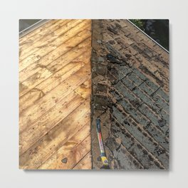 Roofing Past and Present Metal Print