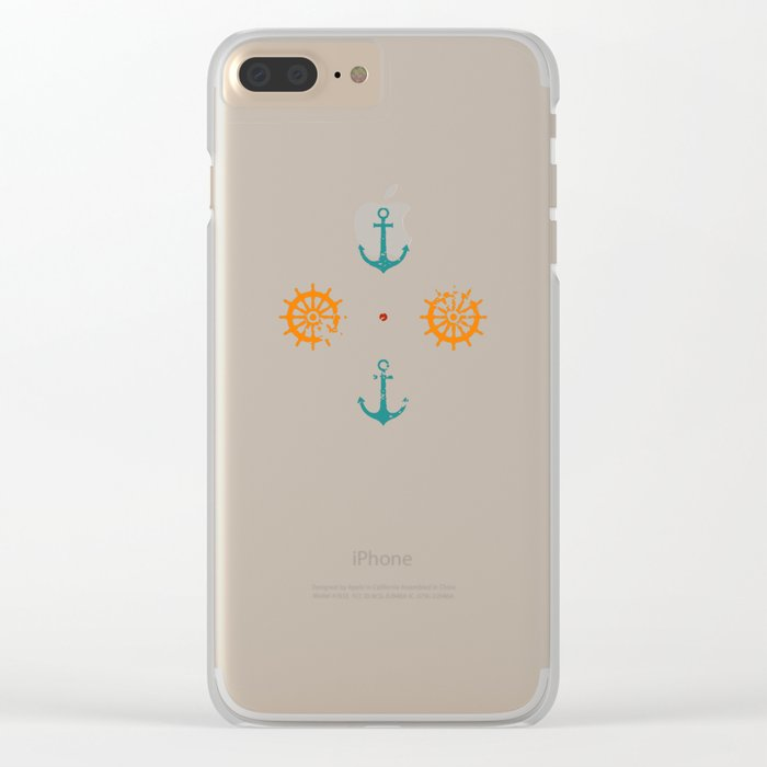 Old Navy Pattern Clear iPhone Case