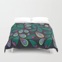 candy Duvet Covers featuring Candy by Sarah J Bierman