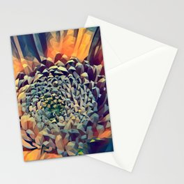 polygon art Flower stamp pen drawing  Stationery Cards