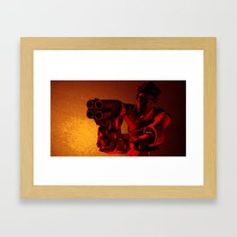 Solid Intrusion Framed Art Print