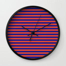 Florida Team Colors Stripes Wall Clock