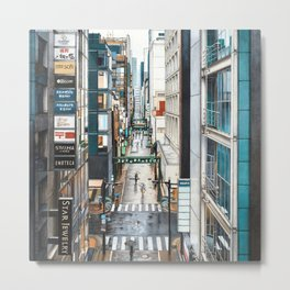 A View of Ginza, Tokyo Metal Print