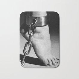 Woman Barefoot in steel Cuffes Bath Mat