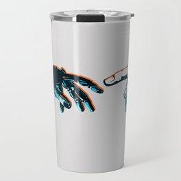 Creation of Man 2.0 Classic Michelangelo Robot Hand Art Print Travel Mug