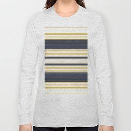 Nautical Stripes Pattern Long Sleeve T-shirt