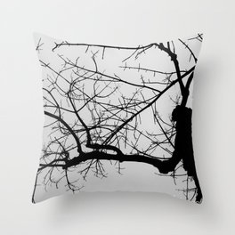The Haunting of The Tree Throw Pillow